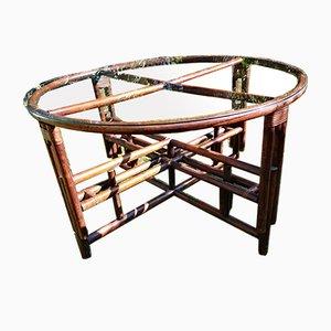 Vintage McGuire Style Adjustable Bamboo Table