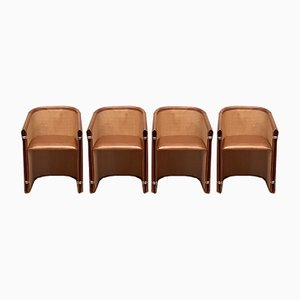 Italian Lario Club Chairs by Giuseppe Viganò for Bonacina, 2000s, Set of 4