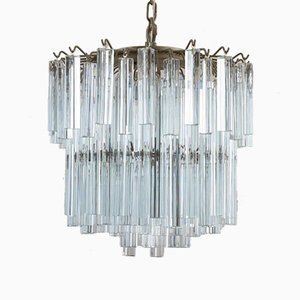 2-Tier Murano Glass Chandelier by Paolo Venini, 1970s