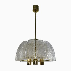 Bowl-Shaped Glass Tube MCM Ceiling Fixture Lamp by Doria for Doria Leuchten, 1960s