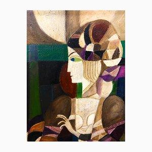 Gianfranco Minelli, olio su tela