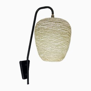 Textured Glass Shade Wall Lamp, 1950s