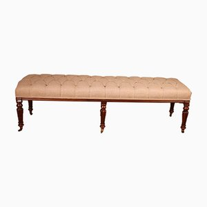 Mahogany Bench or Stool, 19th Century