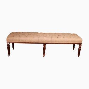 Mahogany Bench or Stool, 19th Century