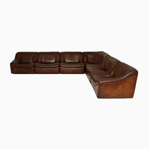 Vintage Leather DS46 Sectional Corner Sofa from De Sede, Set of 6