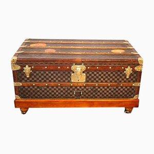 Baúl de viaje de Damier con estampado a cuadros de Louis Vuitton