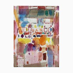 Oskar Koller, Watercolor, Indian Shop