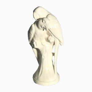 Viennese Ceramic Parrot Set from A. Förster Wien, 1905