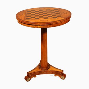 Small Pedestal Table with Chess Board, 19th Century