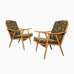 Vintage Boomerang Lounge Chairs by Michael Thonet for TON, Set of 2