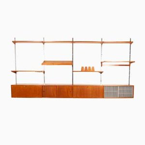 Vintage Danish Modular Teak Wall Unit by Kai Kristiansen for FM, 1960s