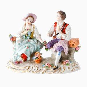 Romantisches Paar aus Porzellan