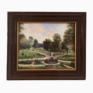 Park View Gemälde auf Porzellan
