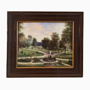 Park View Painting on Porcelain
