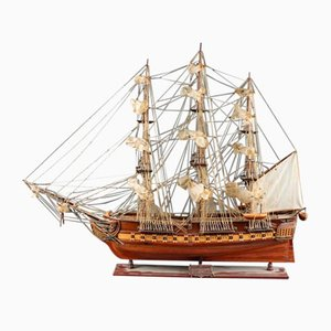 Precious Wood Model of the 1797 Constitution Boat