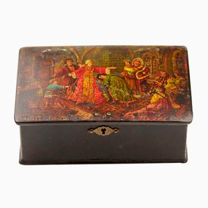 Antique Russian Game of Blind Man's Buff Box
