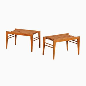 Small Czech Coffee Tables, 1960s, Set of 2