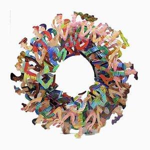 Original Human Circle Skulptur von David Gerstein