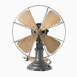 GU 11 Fork Fan by Prof. Peter Behrens for AEG Berlin, 1909, Germany