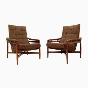 Italian Armchairs from Minotti, 1950s, Set of 2