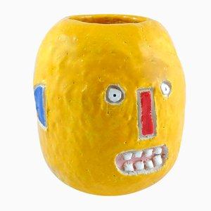 Ananas Kopf - Vase in Form eines Kopfes von Ymono