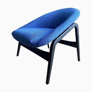 Blauer Modell Columbus Sessel von Hartmut Lohmeyer für Artifort, 1950er