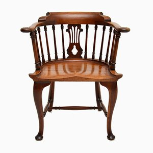 Antique Victorian Captain's Desk Chair