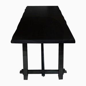 Brutalist Blackened Elm Table, 1960s