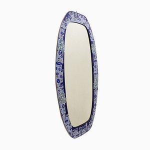 Enamelled Metal Wall Mirror