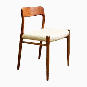 Dänischer Stuhl aus Teak & Wolle von Niels Otto Møller für JL Møllers, 1950er
