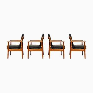 Dänische Teak 431 Esszimmerstühle von Arne Vodder für Sibast, 1950er, 4er Set