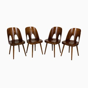 Wooden Chairs by Oswald Haerdtl for TON, 1950s, Set of 4