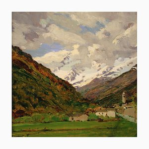 Landscape, 20th Century, Oil of Panel