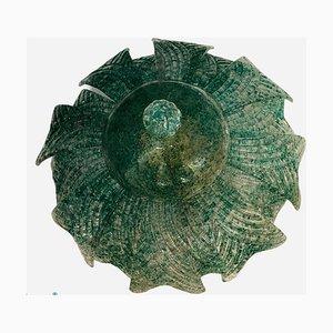 Große mintgrüne Murano Glas Deckenlampe