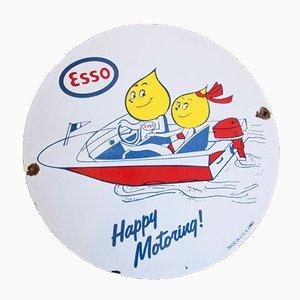 Placa promocional vintage de ESSO