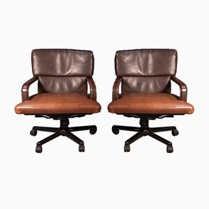 Vintage Swivel Armchairs from Matteo Grassi, Set of 2