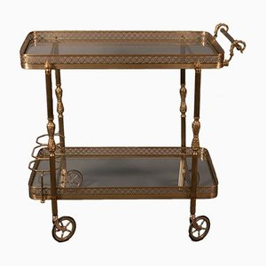 Vintage French Brass Trolley from Maison Jansen