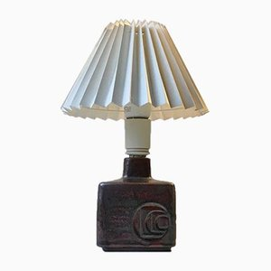 Modernist Scandinavian Stoneware Table Lamp from Desiree, 1970s