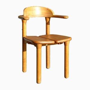 Rustikaler dänischer Rainer Daumiller Stil Stuhl mit Armlehnen aus Buchenholz, 1970er