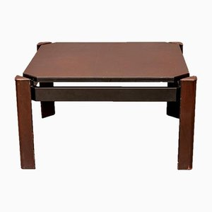 Vintage Leather Coffee Table from Matteo Grassi