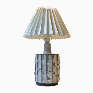 Modernistische Skandinavische Keramik Tischlampe von Preben H. Gottschalk-Olsen, 1970er