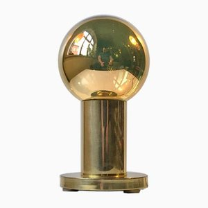 Danish Brass Spy-Ball Table Lamp from Frimann, 1970s