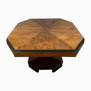 Art Deco Exotic Wood & Blackened Wood Extendable Dining Table, 1920s