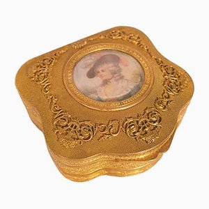Jewelry Box Decorated with a Miniature, 1800s