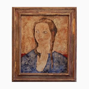 Edick Carrau, Portrait of Woman, 1950