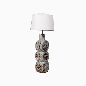English Troika-Inspired Ceramic Table Lamp / Side Light, 20th Century