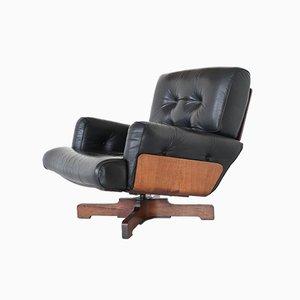 Italian Rosewood 401 Lounge Chair by Menilio Taro for Cinova, 1964