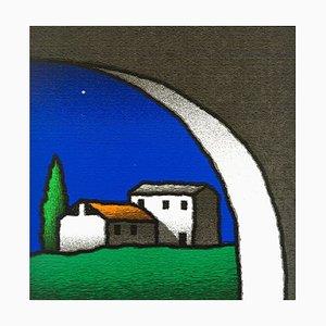 Tino Stefanoni, Casolare Interno, Colored Screenprint