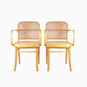Modell 811 F / Prague Stühle von Josef Hoffmann für TON, 1970er, 2er Set