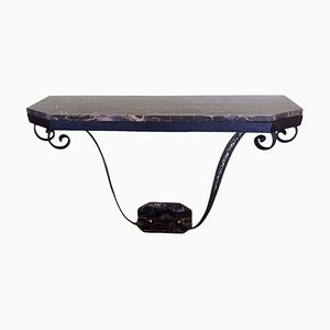 French Art Deco Marble Console, 1930s